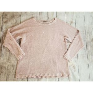 H by Halston Pullover Blush Sequin Size XL Sweater